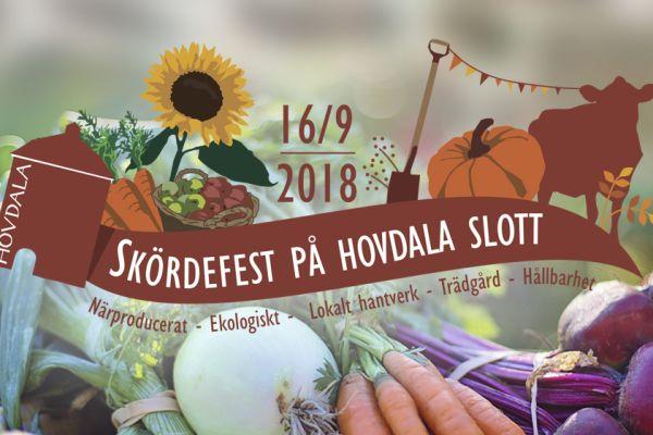 Skördefest på Hovdala slott 16 september kl. 11 - 16!