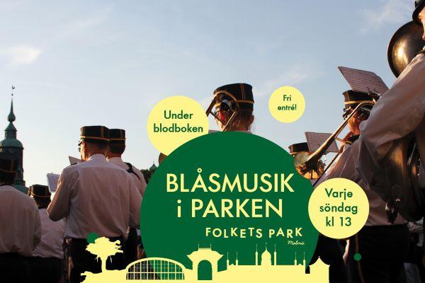 Blåsmusik i Folkets Park